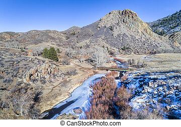 landmark rock and river in northern Colorado