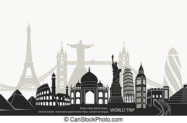 landmark world bookmark for travel