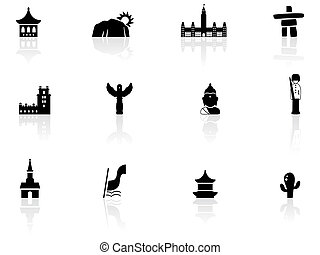Landmarks and cultures icons