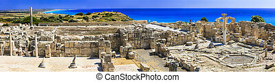 Landmarks of Cyprus island -  ancient temples in Kurion - ...