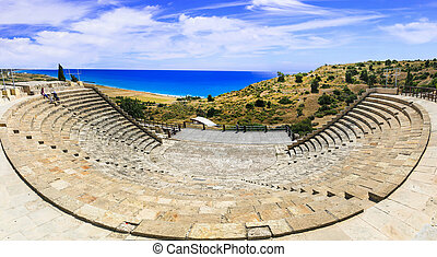 landmarks of Cyprus island - grreek theater - Curium Ancient...