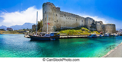 Kyrenia old town , medieval fortress in northen turkish part