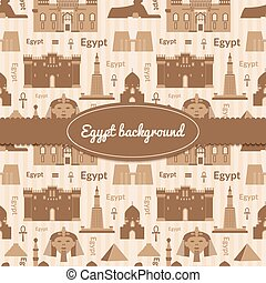 Landmarks of Egypt background