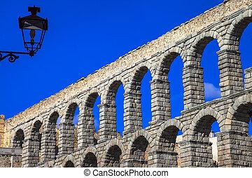landmarks of Spain - roman aqueduct in Segovia