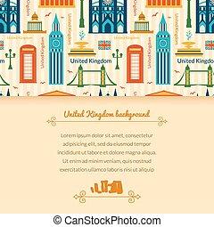 Landmarks of United Kingdom background