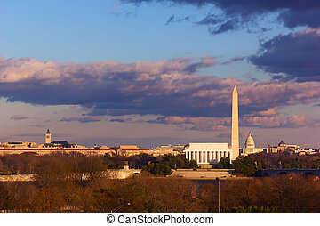 Landmarks of Washington DC - Lincoln Memorial, Washington...