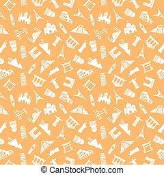 Landmarks seamless pattern