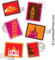 Landmarks stamps collection