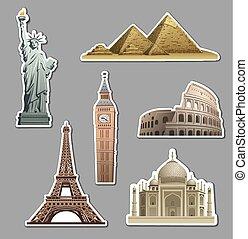 landmarks stickers