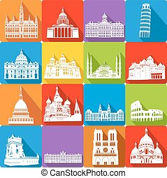 landmarks, vector illustration