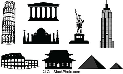 landmarks vector silhouettes