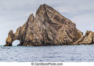 land's, cabo, meksyk, sur, formacja, skała, baja kalifornia, san, koniec, lucas