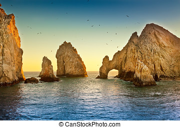 Land's End - Natural rock formation at Land's End, in Cabo...