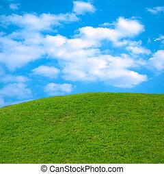 Landscape 1 - Beautiful springtime landscape green grass...