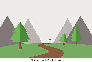 landscape, achtergrond