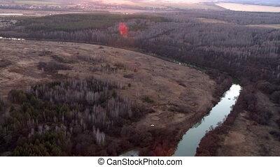 Landscape aerial shot.