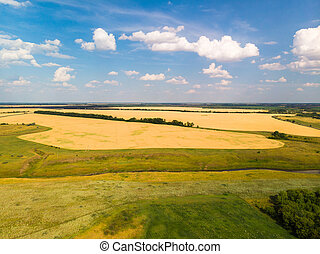 Landscape and agricultural lands in a Central Russia