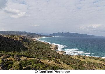 Landscape and coastline in Kenting National Park, South...