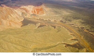 aerial view of grand canyon and colorado river - landscape...