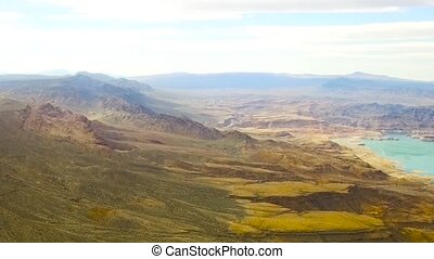 aerial view of grand canyon and lake mead - landscape and...