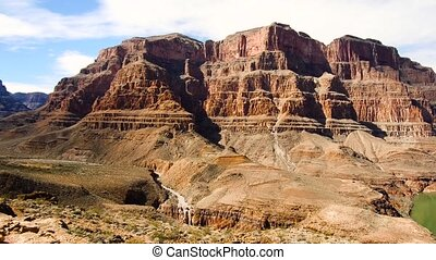 view of grand canyon cliffs and colorado river - landscape...