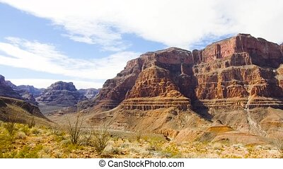view of grand canyon cliffs - landscape and nature concept -...
