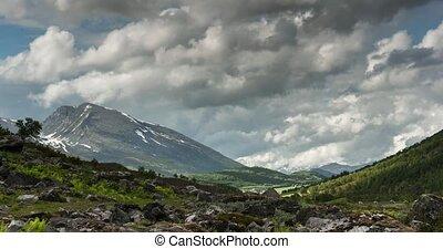 Landscape Around Eidsvatnet, Time Lapse, Norway