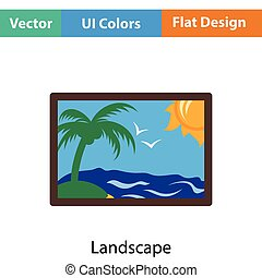 Landscape art icon