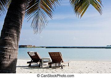 Landscape at a seaside beach resort