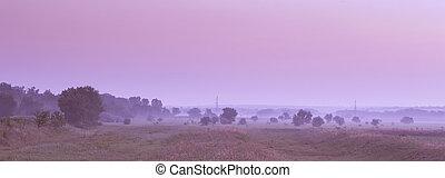 Landscape at dawn