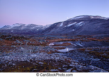 landscape at Gamle Strynefjellsvegen, National tourist road, Norway