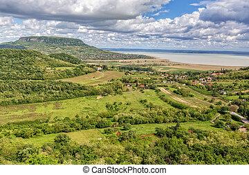 Landscape at lake Balaton