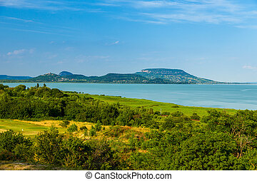 Landscape at Lake Balaton - Summer landscape at Lake...