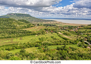 Landscape at lake Balaton, Badacsony from Hungary,