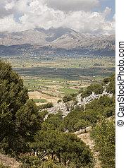 Landscape at Lasithi Plateau in Crete. Greece