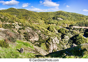 Meteora - Landscape at Meteora Monasteries in Trikala region...