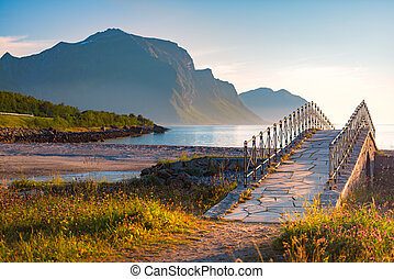 Landscape at sunset in Norway, Europe