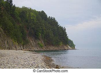 Landscape at the Black Sea coast. Tuapse, Russia