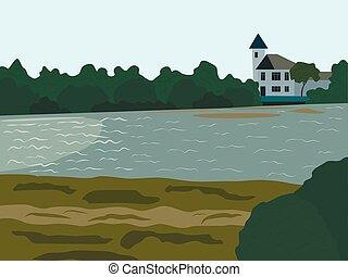 Landscape at the river