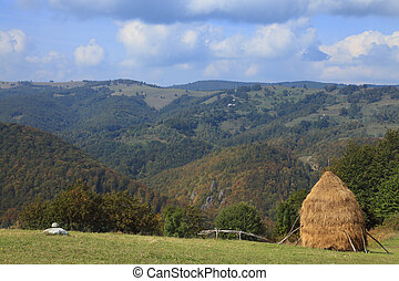 Autumn landscape in Apuseni Mountains from Transylvania, Romania.