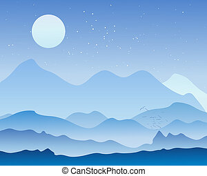 landscape background - an illustration of a beautiful...