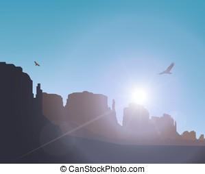 Western desert.