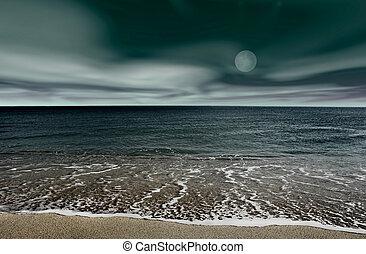 Landscape beach - Picture of a night beach landscape