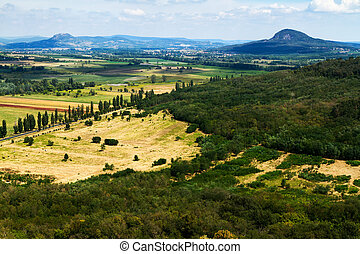 Landscape - Beautiful lanscape with volcanoes (Hungary)