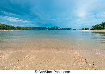 landscape before heavy rain in the sea