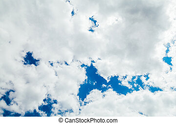 landscape blue sky with beautiful white clouds
