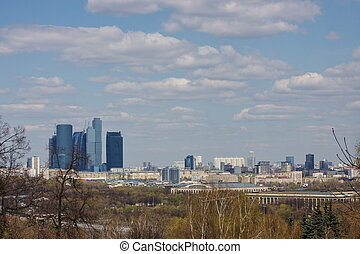 landscape, city Moscow, Russia