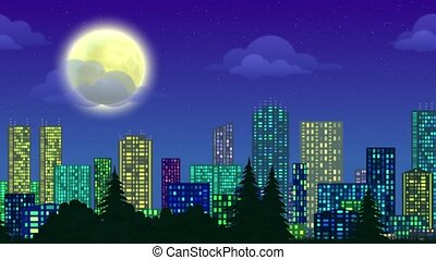 Landscape, City, Seamless Loop - Fullhd 1920x1080...