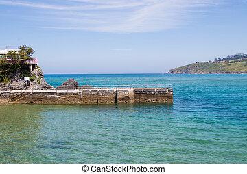 landscape coast of mundaka, basque country, spain