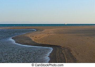 Landscape coast of the sea ebb photo
